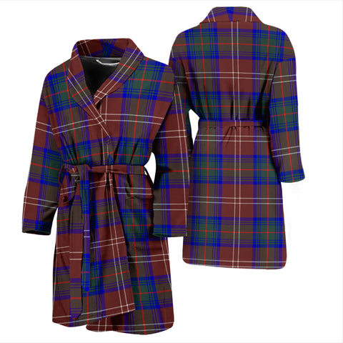 Chisholm Hunting Modern Bathrobe - Men Tartan Plaid Bathrobe Universal Fit
