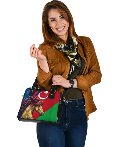 Azerbaijan Pride and Heritage Shoulder Handbag - Happy Independence's Day - BN21