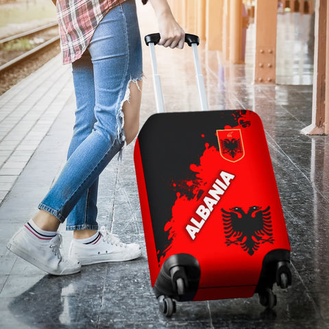 Albania Luggage Covers Red Braved Version K12
