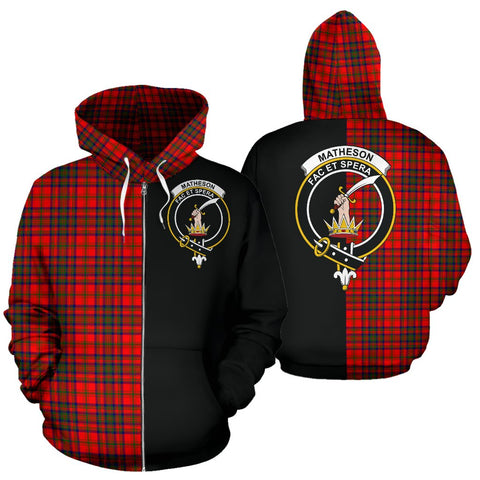 Matheson Modern Tartan Hoodie Half Of Me TH8