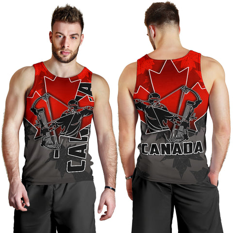 Canada Men's Tank Top Archery With Maple Leaf TH4