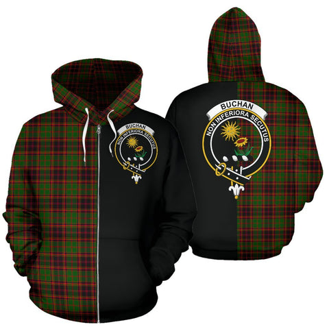 (Custom your text) Buchan Modern Tartan Hoodie Half Of Me TH8
