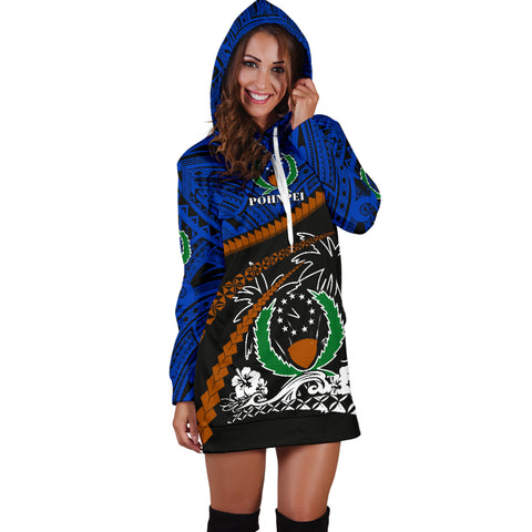 Pohnpei Women Hoodie Dress - Road to Hometown K4