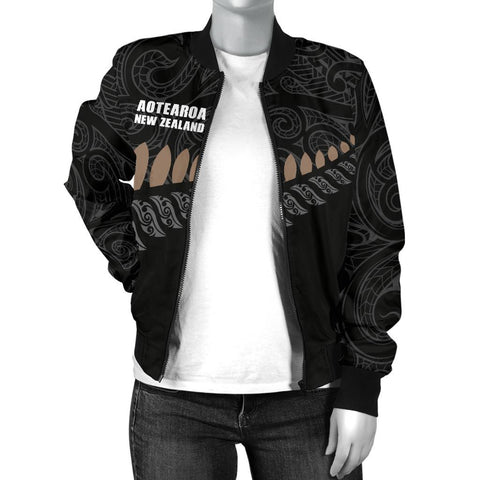 New Zealand Women's Bomber Jacket Ka Mate Haka Lyrics A7