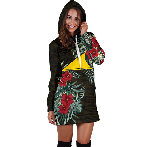 Image of Tokelau Hibiscus Hoodie Dress A7