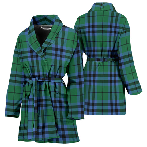 Keith Ancient Bathrobe - Women Tartan Plaid Bathrobe Universal Fit