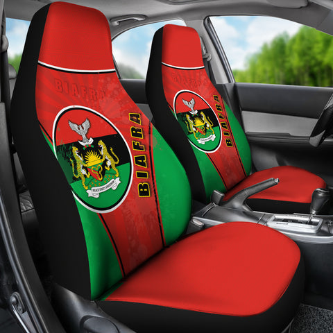 Biafra Car Seat Covers Circle Stripes Flag Proud Version K13