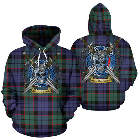 Fletcher Modern Tartan Hoodie Celtic Scottish Warrior A79 | Over 500 Tartans | Clothing | Apaprel