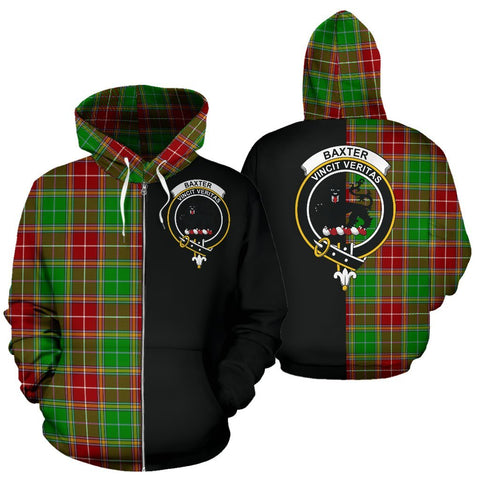 (Custom your text) Baxter Modern Tartan Hoodie Half Of Me TH8