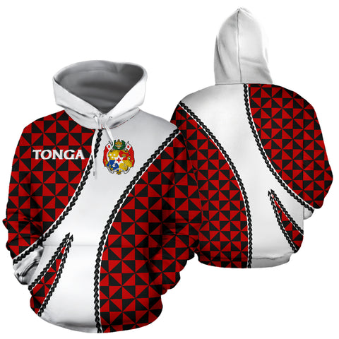 Image of Tonga Polynesian Hoodie Coat Of Arms - Sports Style