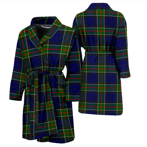 Image of Colquhoun Modern Bathrobe - Men Tartan Plaid Bathrobe Universal Fit