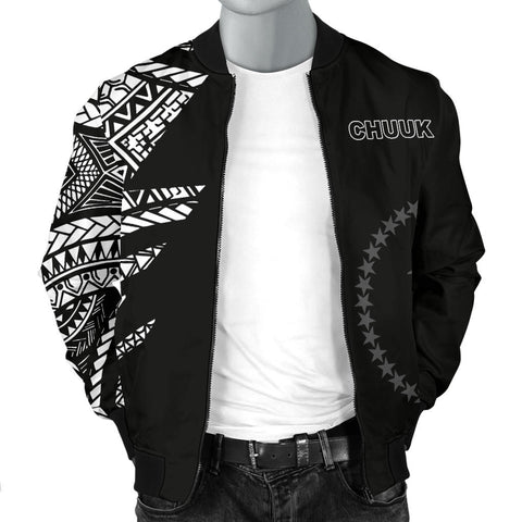Chuuk Pattern Men's Bomber Jackets - Black Style - FSM - BN912