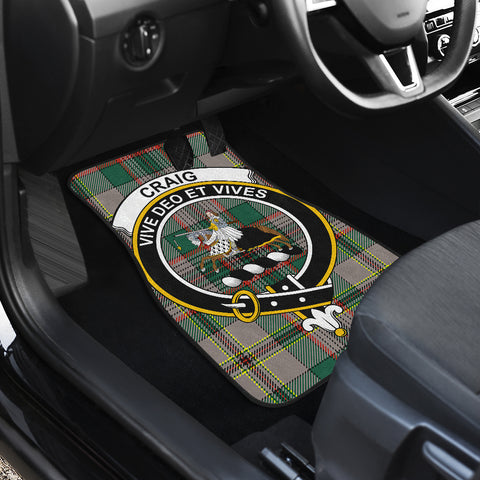 Craig Ancient  Tartan Clan Badge Car Floor Mat 4 Pieces K7
