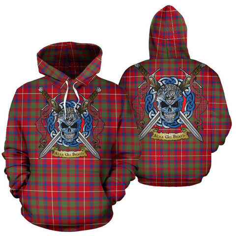 Shaw Red Modern Tartan Hoodie Celtic Scottish Warrior A79 | Over 500 Tartans | Clothing | Apaprel