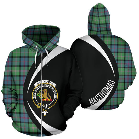 Image of MacThomas Ancient Tartan Circle Zip Hoodie HJ4