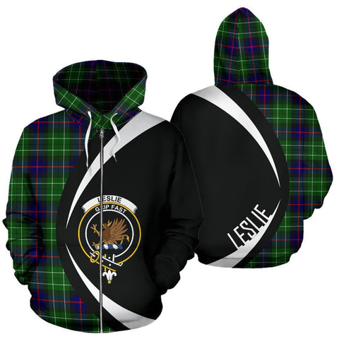 Image of Leslie Hunting Tartan Circle Zip Hoodie HJ4