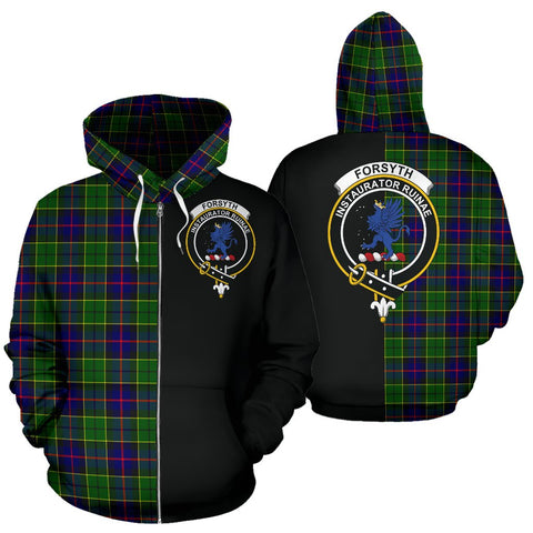 Image of Forsyth Modern Tartan Hoodie Half Of Me TH8