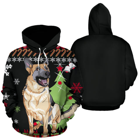 Image of Christmas Hoodie - German Shepherd K5