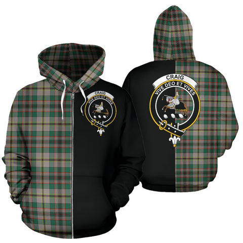(Custom your text) Craig Ancient Tartan Hoodie Half Of Me TH8