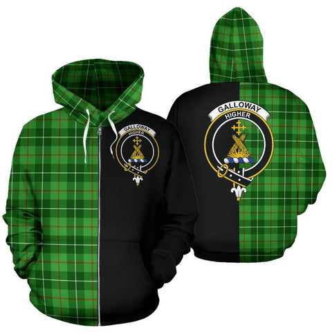 (Custom your text) Galloway District Tartan Hoodie Half Of Me TH8