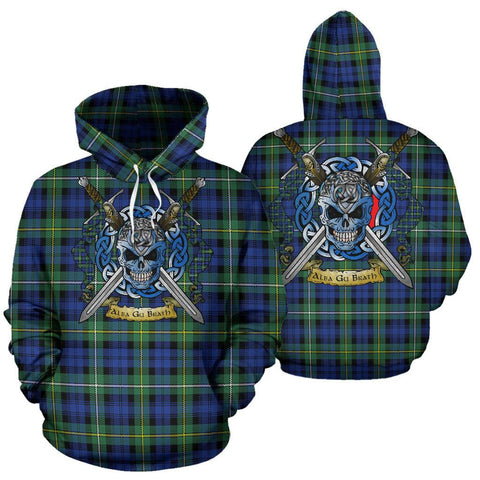 Image of Campbell Argyll Ancient Tartan Hoodie Celtic Scottish Warrior A79 | Over 500 Tartans | Clothing | Apaprel
