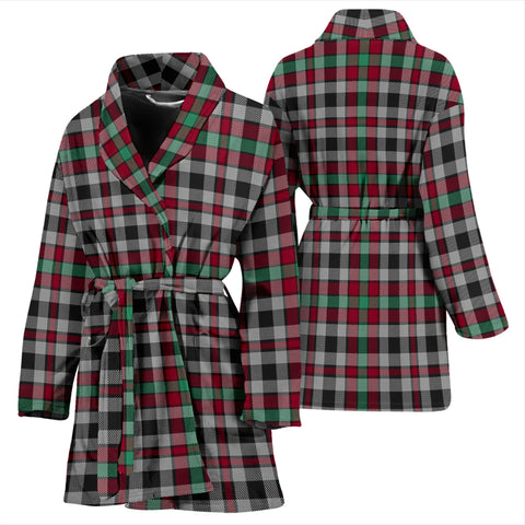 Image of Borthwick Ancient Bathrobe - Women Tartan Plaid Bathrobe Universal Fit