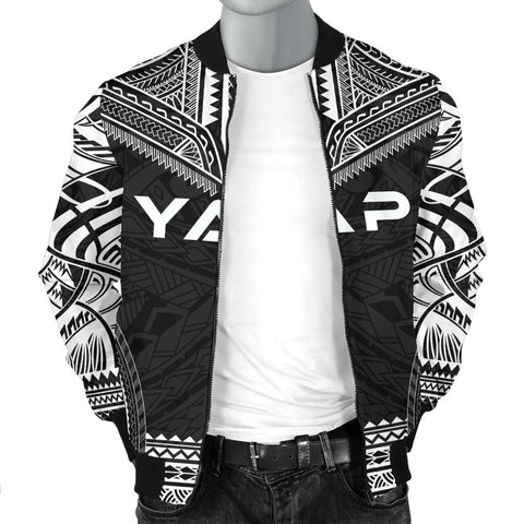 Image of Yap Polynesian Chief Men's Bomber Jacket - Black Version - Bn10