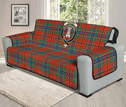 Image of MacLean of Duart Ancient Tartan Clan Badge Oversized Sofa Protector K7