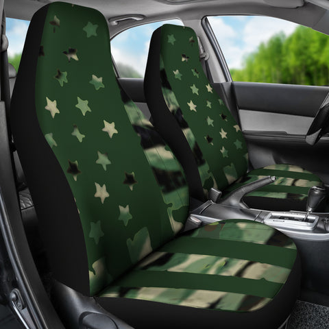 Image of Camo Flag Car Seat Covers K5