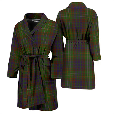 Cunningham Hunting Modern Bathrobe - Men Tartan Plaid Bathrobe Universal Fit