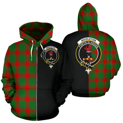 (Custom your text) Middleton Modern Tartan Hoodie Half Of Me TH8