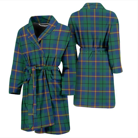 Carmichael Ancient Bathrobe - Men Tartan Plaid Bathrobe Universal Fit