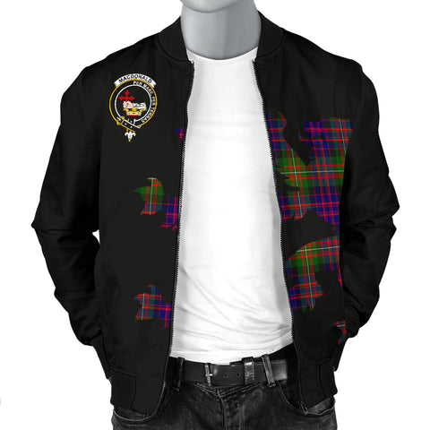 MacDonald (Clan Donald) Tartan Lion And Thistle Bomber Jacket for Men TH8