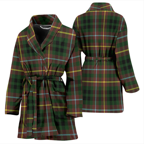 Buchanan Hunting Bathrobe - Women Tartan Plaid Bathrobe Universal Fit