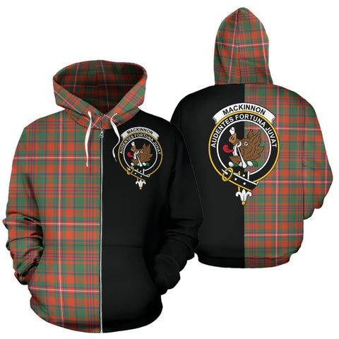 MacKinnon Ancient Tartan Hoodie Half Of Me TH8