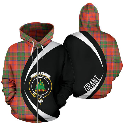 Image of Grant Ancient Tartan Circle Zip Hoodie HJ4