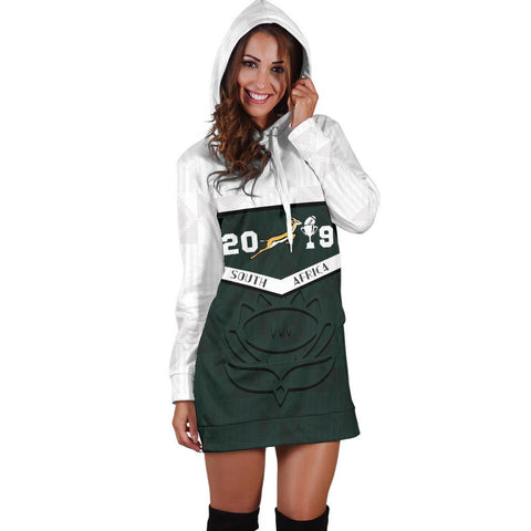 South Africa Springbok Champion 2019 Hoodie Dress 3