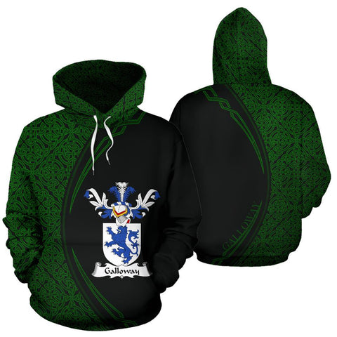 Galloway Family Crest Hoodie Irish Circle Style Hj4