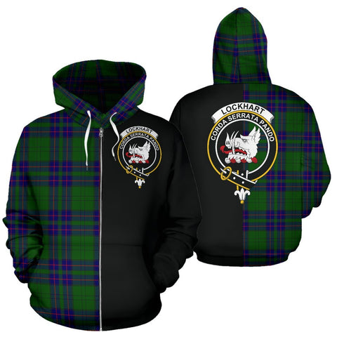 (Custom your text) Lockhart Modern Tartan Hoodie Half Of Me TH8