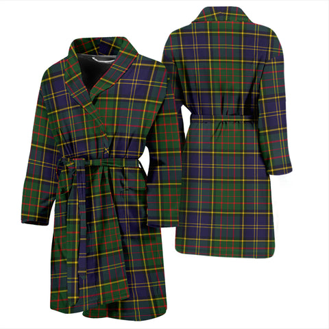 Macmillan Hunting Modern Bathrobe - Men Tartan Plaid Bathrobe Universal Fit