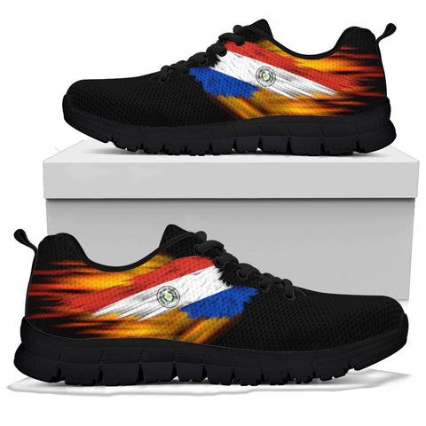 Paraguay Sneakers - Fire Wings and Flag | LOVE THE WORLD