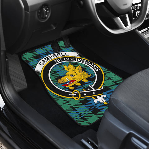 Campbell Ancient 01  Tartan Clan Badge Car Floor Mat 4 Pieces K7
