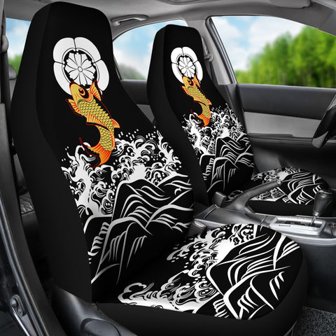 The Golden Koi Fish Car Seat Covers A7