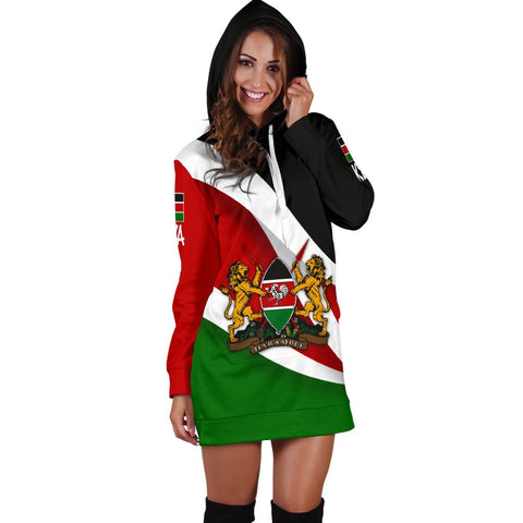 Image of Kenya Impressive Flag Hoodie Dress A15