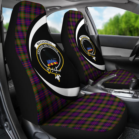 Macdonnell Of Glengarry Modern Tartan Clan Crest Car Seat Cover - Circle Style Hj4