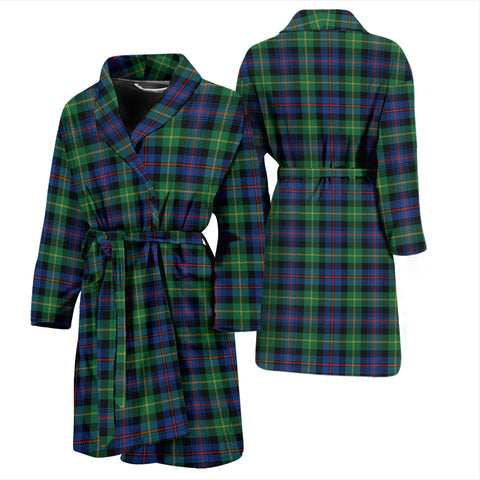 Farquharson Ancient Bathrobe - Men Tartan Plaid Bathrobe Universal Fit