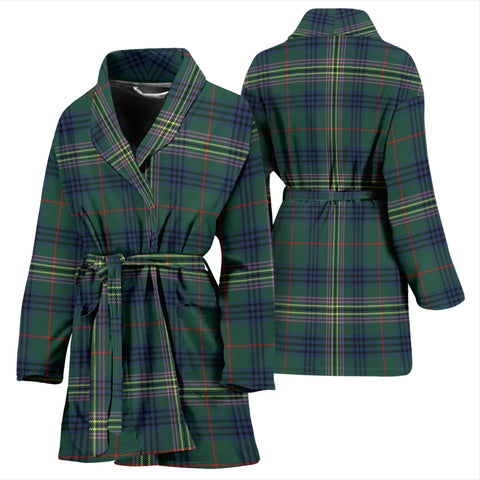 Kennedy Modern Bathrobe - Women Tartan Plaid Bathrobe Universal Fit