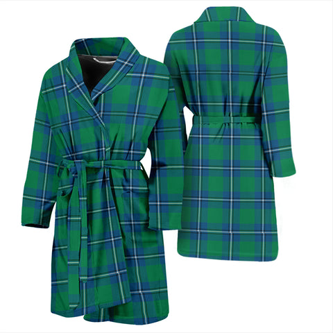 Irvine Ancient Bathrobe - Men Tartan Plaid Bathrobe Universal Fit