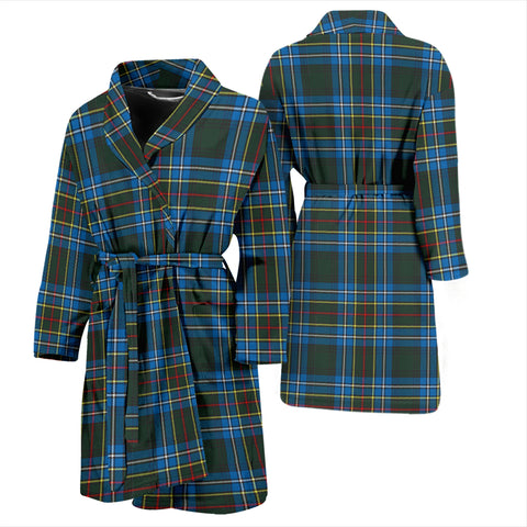 Cockburn Modern Bathrobe - Men Tartan Plaid Bathrobe Universal Fit
