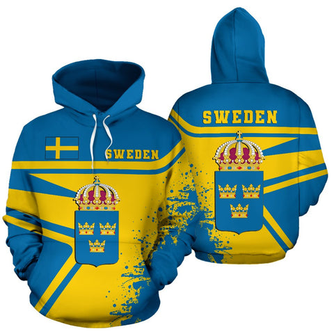 Image of Sweden Hoodie Painting Style Th52